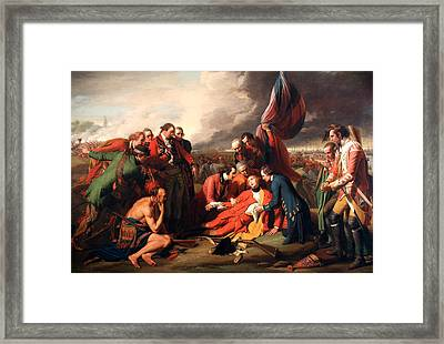 The Death Of General Wolfe Framed Print by Benjamin West