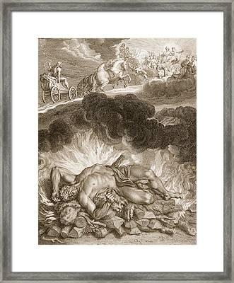 The Death Of Hercules, 1731 Framed Print by Bernard Picart