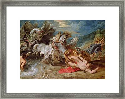 The Death Of Hippolytus, C.1611-13 Framed Print by Peter Paul Rubens