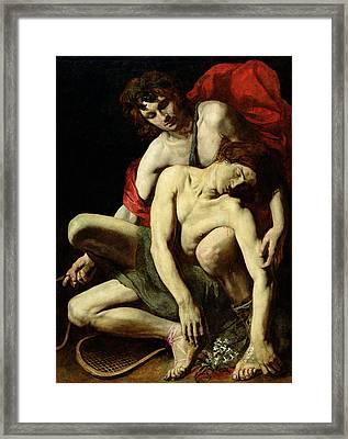 The Death Of Hyacinthus  Framed Print by Italian School