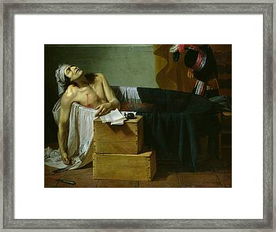 The Death Of Marat Framed Print by Joseph Roques
