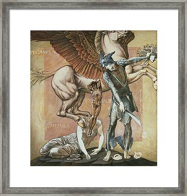 The Death Of Medusa I, C.1876 Framed Print by Sir Edward Coley Burne-Jones