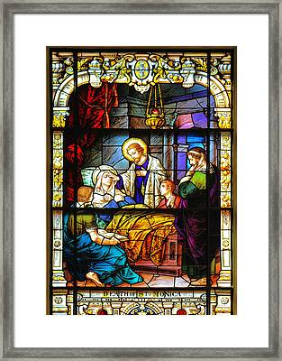 The Death Of St Monica St Augustine Framed Print by Christine Till