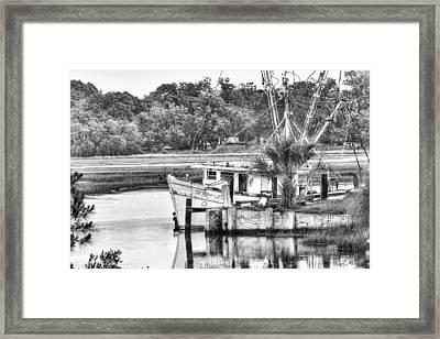 The Debbie-john Shrimp Boat Framed Print by Scott Hansen