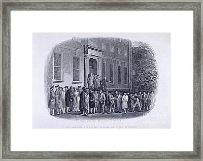 The Declaration Of Independance Framed Print by British Library