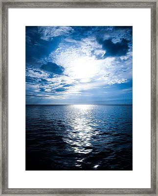The Deep Blue Framed Print by Todd Reese