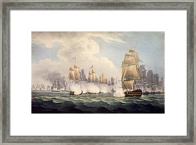 The Defeat Of The French Under Linois Framed Print by English School