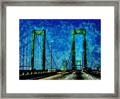 The Delaware Memorial Bridge Framed Print by Angelina Vick