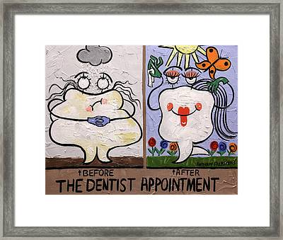 The Dentist Appointment Dental Art By Anthony Falbo Framed Print by Anthony Falbo