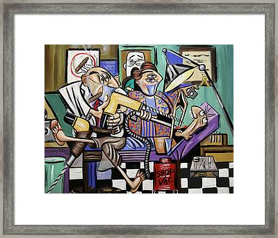 The Dentist Is In Root Canal Framed Print by Anthony Falbo