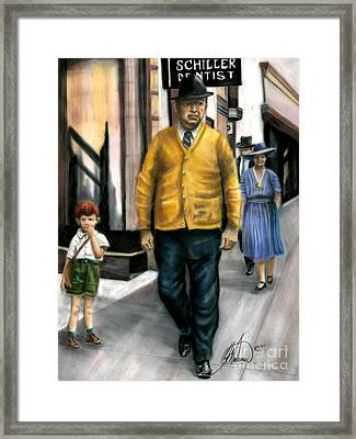 The Dentist Framed Print by Leah Wiedemer
