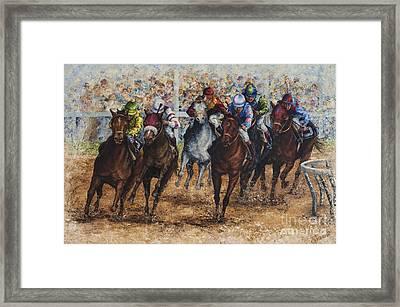 The Derby Framed Print by Sher Sester