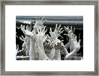 The Descension Of The Consumer 2 Framed Print by Nola Lee Kelsey
