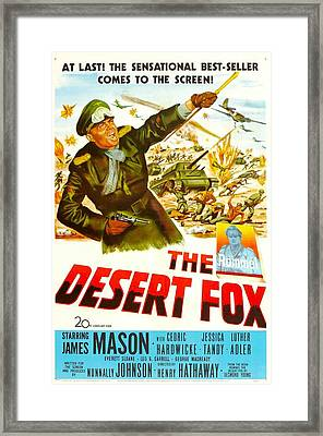 The Desert Fox, Aka The Desert Fox The Framed Print by Everett
