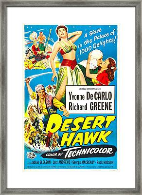 The Desert Hawk, Us Poster, From Left Framed Print by Everett