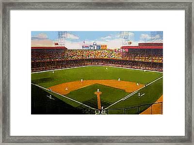 The Detroit Tigers Briggs Stadium Around 1940 Framed Print by Dwight Goss