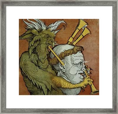 The Devil Framed Print by Eduard Schoen