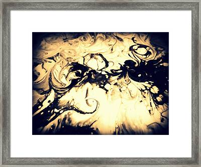 The Devil Smoking Framed Print by Mlle Marquee