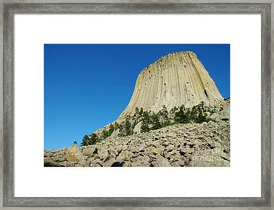 The Devils Tower Framed Print by Micah May