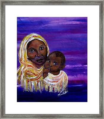 The Devotion Of A Mother's Love Framed Print by The Art With A Heart By Charlotte Phillips