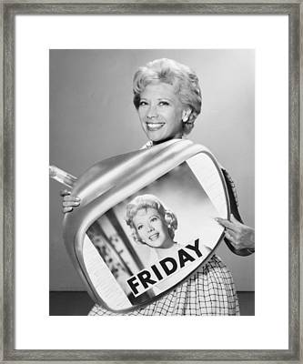 The Dinah Shore Show Framed Print by Underwood Archives