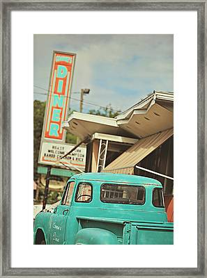 The Diner Framed Print by Carrie Ann Grippo-Pike