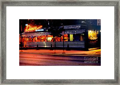 The Diner On Sycamore Framed Print by Gary Gingrich Galleries