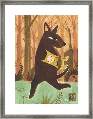 The Dingo Stole My Baby Framed Print by Kate Cosgrove