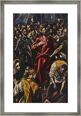 The Disrobing Of Christ Framed Print by Celestial Images