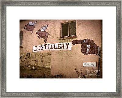 The Distillery Framed Print by Janice Rae Pariza
