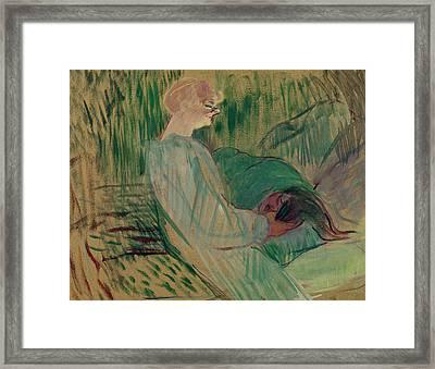 The Divan Rolande Framed Print by Henri de Toulouse-Lautrec