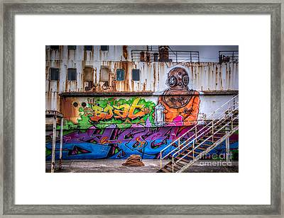 The Diver Framed Print by Adrian Evans