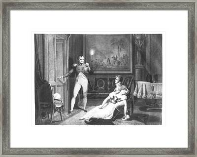The Divorce Of Napoleon I 1769-1821 And Josephine Tascher De La Pagerie 1763-1814 30th November Framed Print by Charles Abraham Chasselat