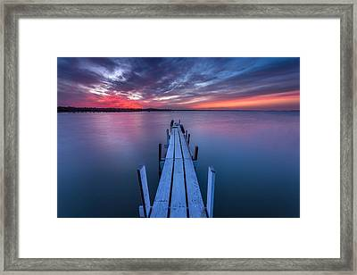 The Dock I Framed Print by Peter Tellone