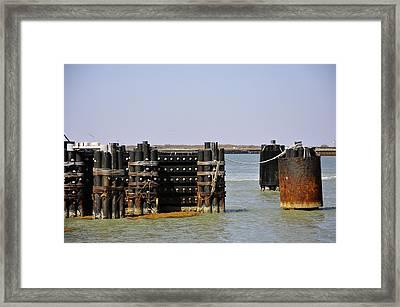 The Docks Framed Print by Cherie Haines