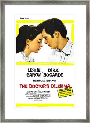 The Doctors Dilemma, Us Poster, Leslie Framed Print by Everett