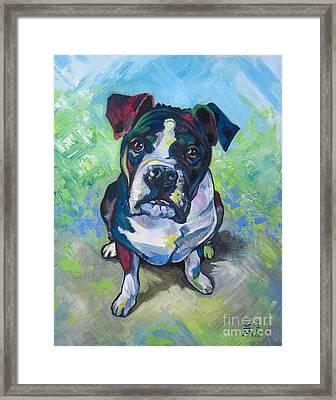The Dog Framed Print by Ellen Marcus