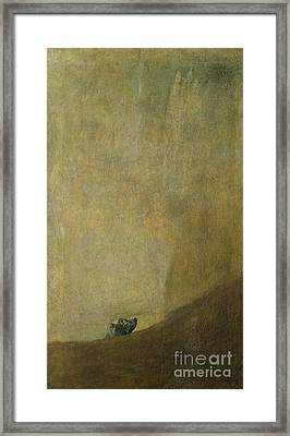 The Dog Framed Print by Goya