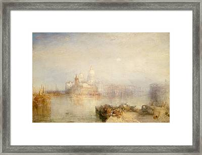 The Dogana And Santa Maria Della Salute, Venice Framed Print by Joseph Mallord William Turner