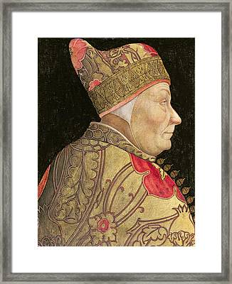 The Doge Francesco Foscari Framed Print by Lazzaro Bastiani
