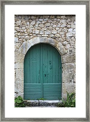 The Door In The Wall Framed Print by Georgia Fowler