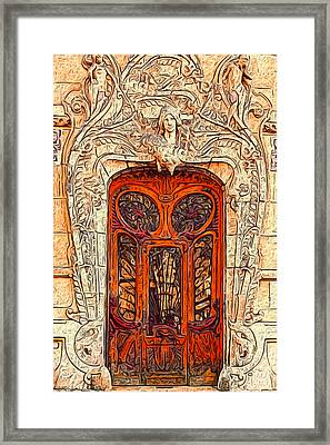 The Door Framed Print by Jack Zulli