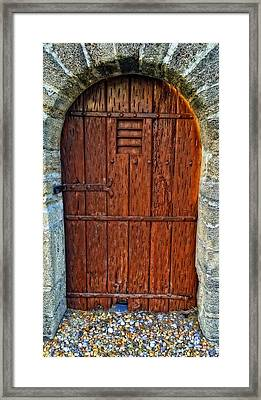 The Door - Vintage Art By Sharon Cummings Framed Print by Sharon Cummings