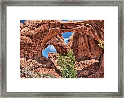 The Double Arch - Arches National Park Framed Print by Gregory Ballos