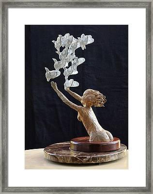 The Dove Maiden Framed Print by Dan Redmon