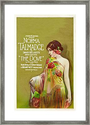 The Dove, Norma Talmadge On Window Framed Print by Everett