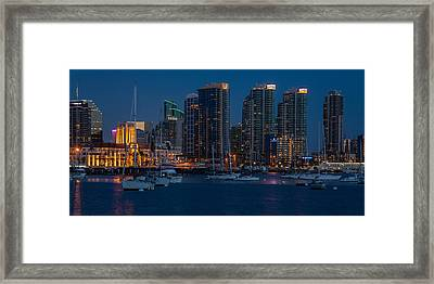 The Downtown Framed Print by Peter Tellone