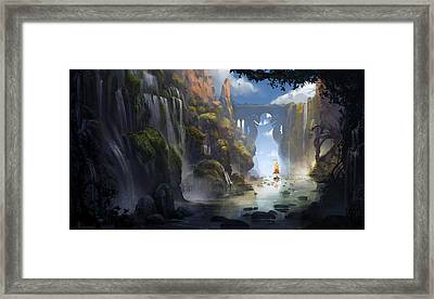 The Dragon Land Framed Print by Kristina Vardazaryan