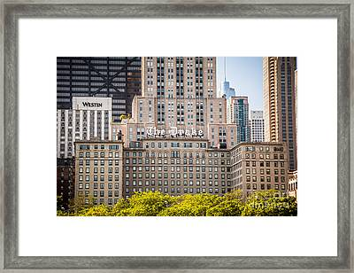 The Drake Hotel In Downtown Chicago Framed Print by Paul Velgos