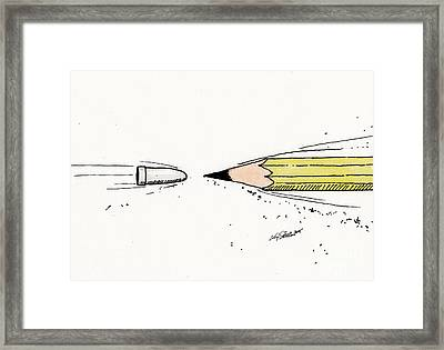 The Draw Framed Print by Christopher Shellhammer